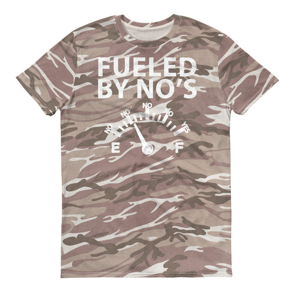FUELED BY NO'S CAMO Short-sleeved Camouflage t-shirt - We Care Tees