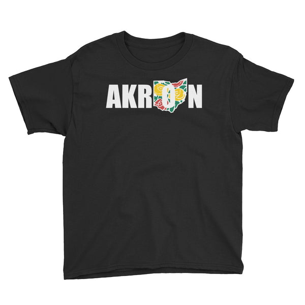 Beautiful Akron 2 Youth Short Sleeve T-Shirt - We Care Tees