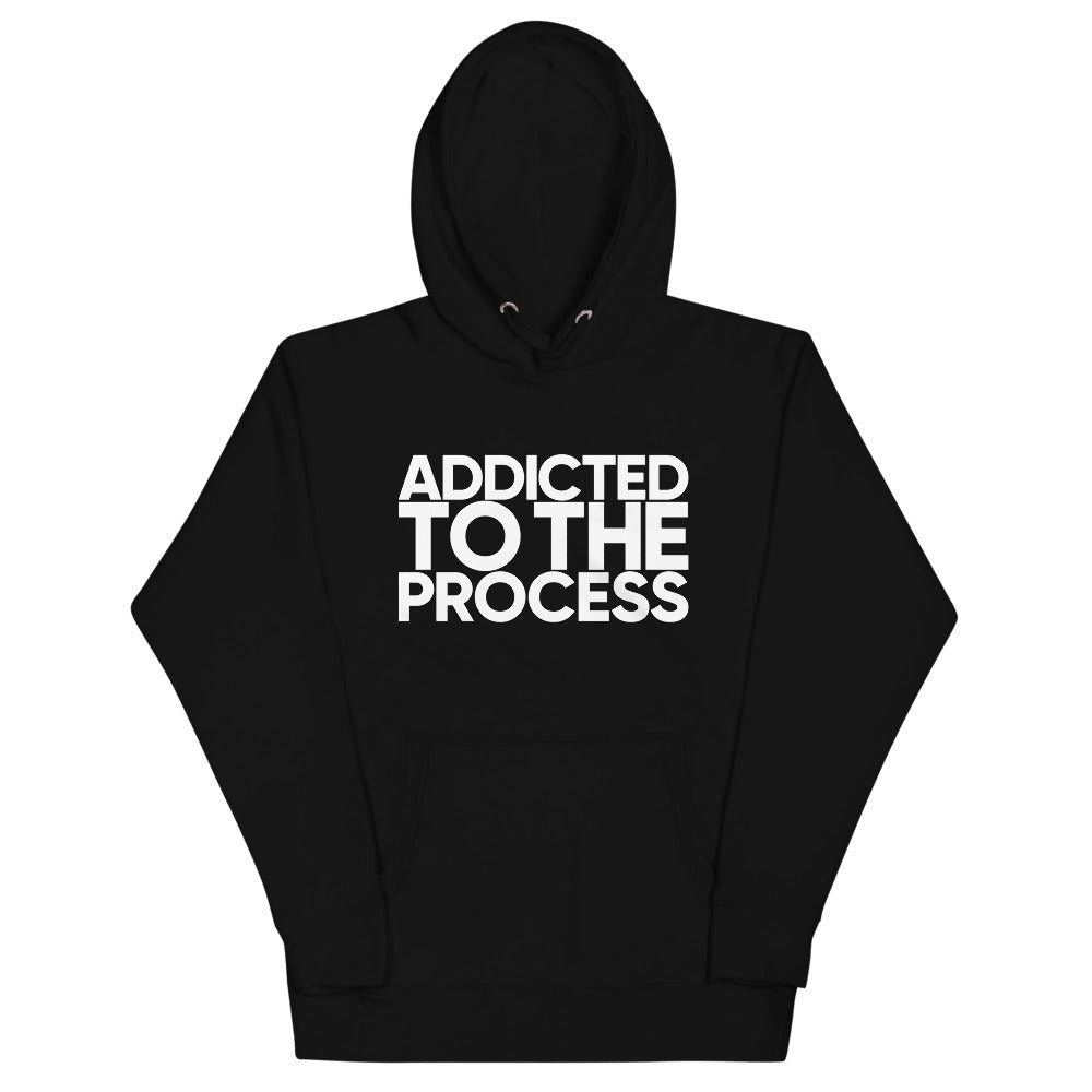 ADDICTED TO THE PROCESS Unisex Super Premium Hoodie - We Care Tees