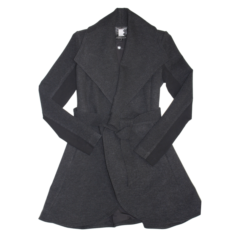 Women's Belted Curved Edge Mid Tailored Jacket
