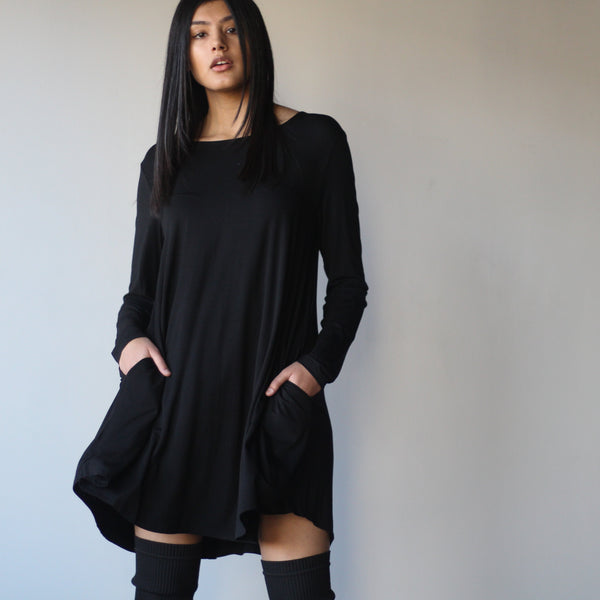 Long Sleeved Pocket Dress