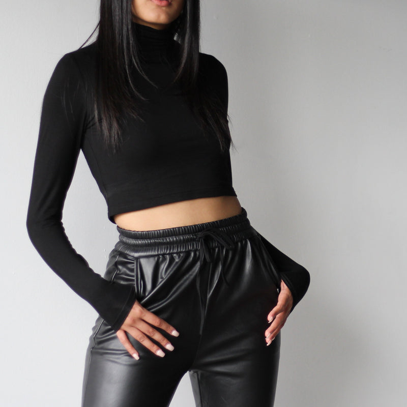 turtleneck crop top