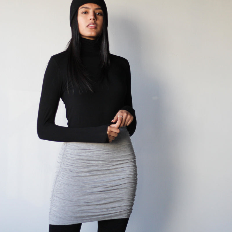 Women's Black Tight Turtleneck