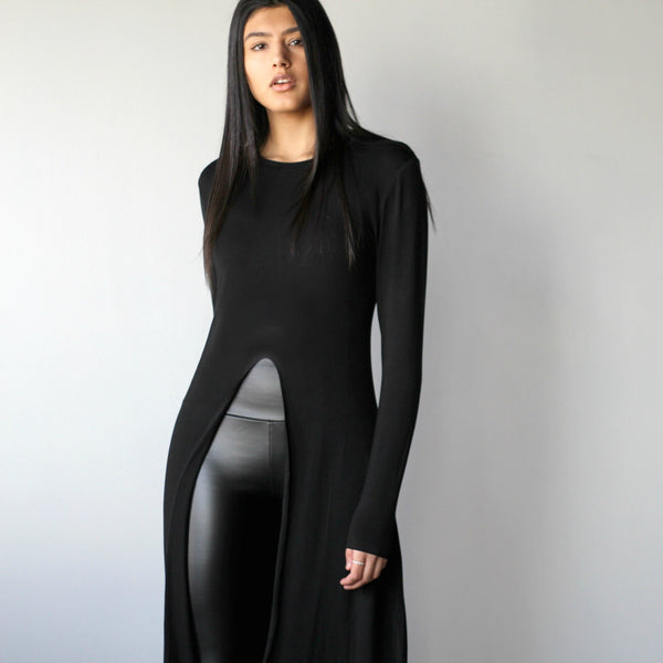 Long Sleeved Slit Shirt