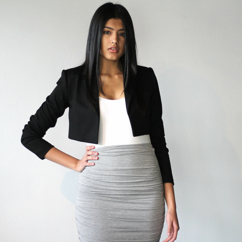 Double Layered Ruched Skirt
