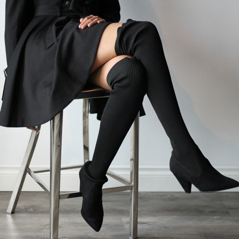 Stretch Thigh High Boots