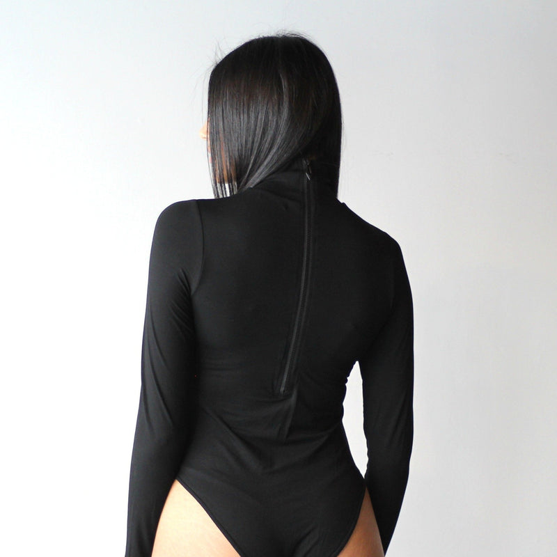 Double Layered Long Sleeved Turtleneck Bodysuit
