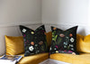 Country Garden Silk Velvet Cushion Cover - 50 x 50cm - feather inner supplied