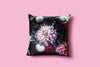 'Dahlia Dream // the darkness' Silk Velvet Cushion