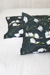 Forest Green Lisianthus // 100% Luxury Linen Pillowcase