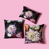 Petite Dahlia Dream // the darkness - Silk Velvet Cushion