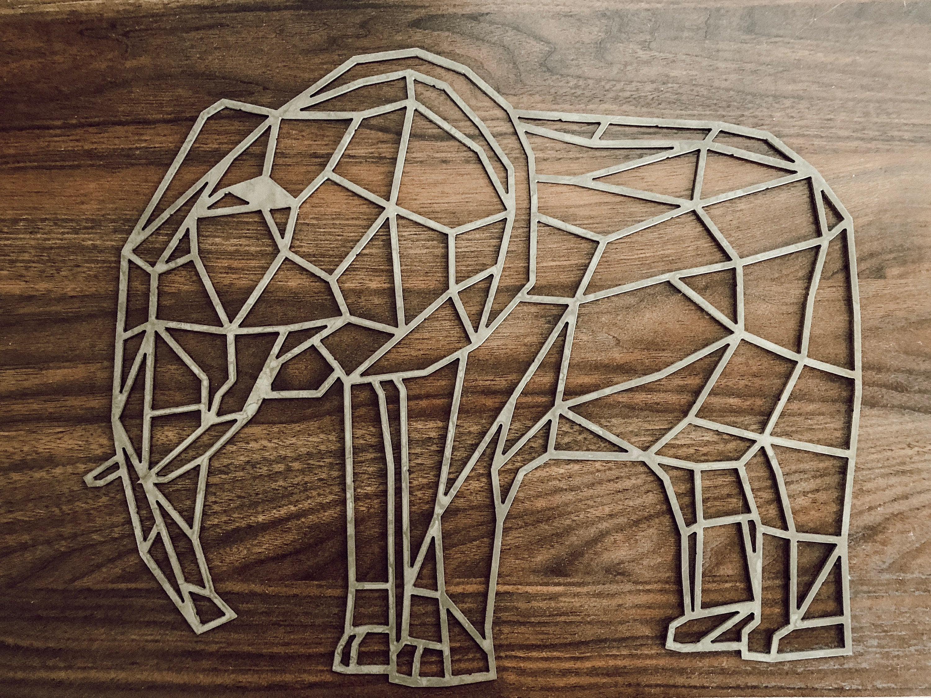 Geometric Elephant Wall Art