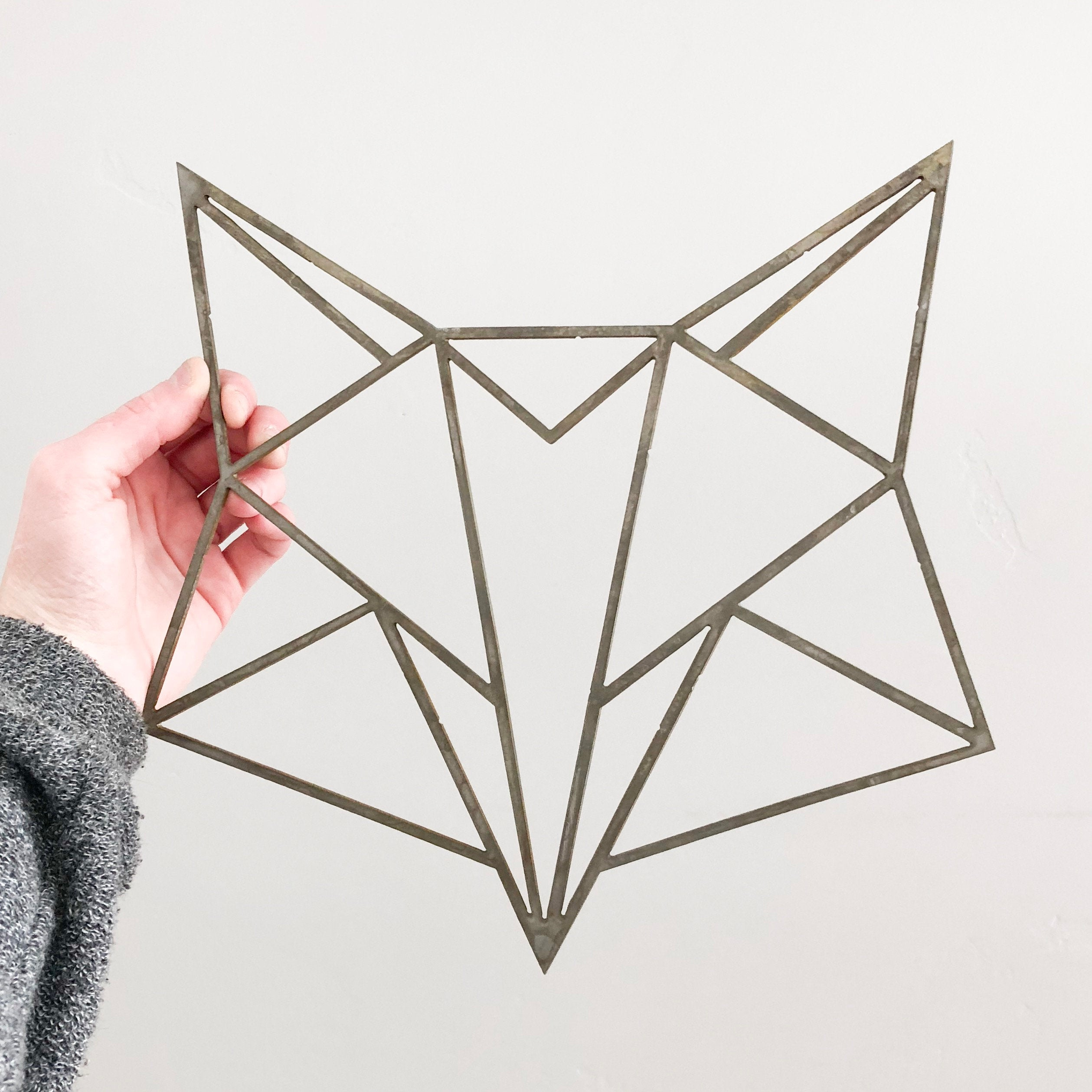 Geometric Fox Head Wall Art