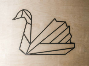 Geometric Swan Wall Art