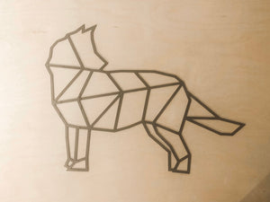 Geometric Wolf Wall Art