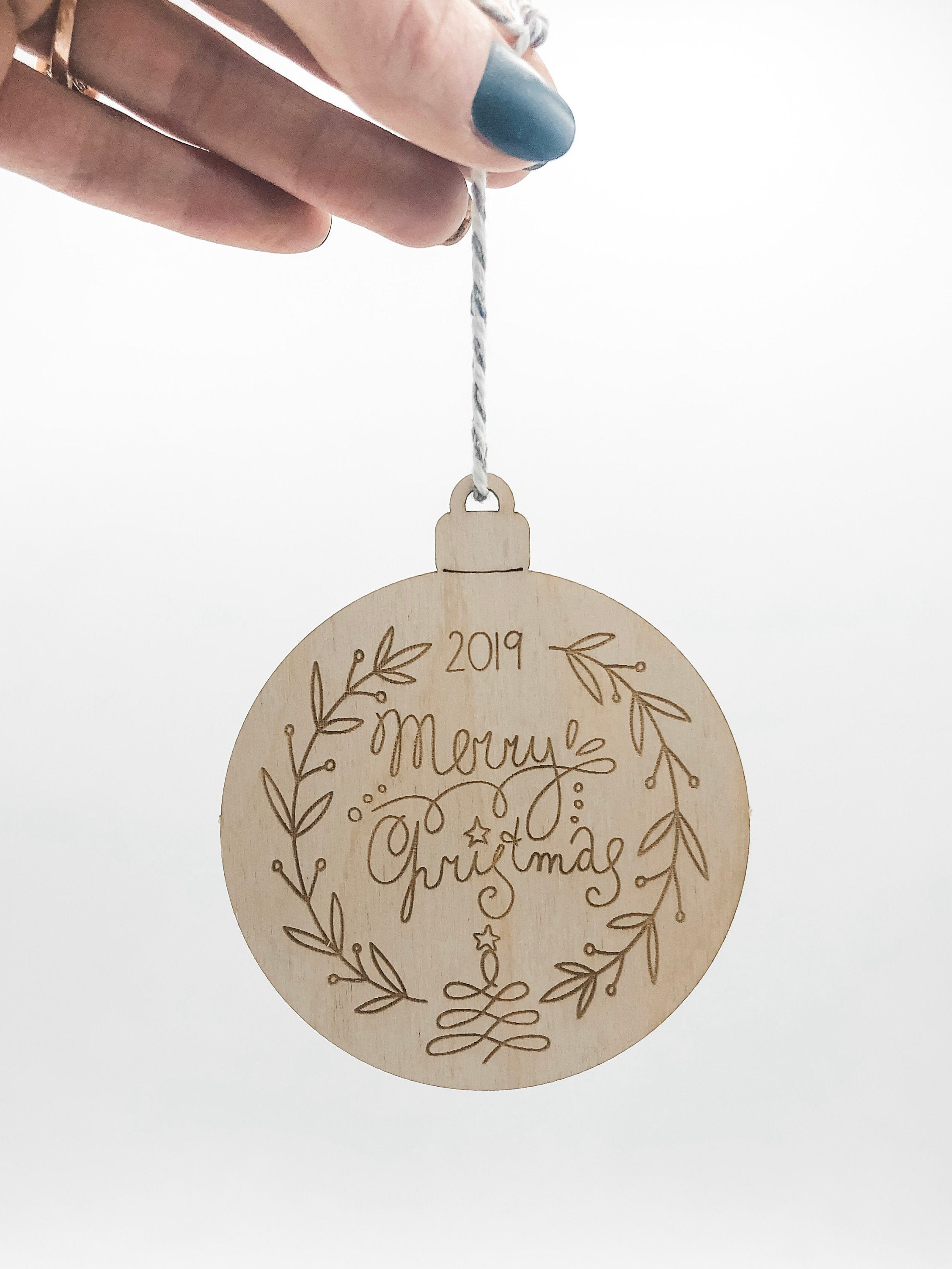 Wood Gift Customized Pop Out Ornament Christmas Card