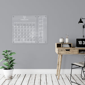 Large acrylic wall calendar - custom logo or name // office organization