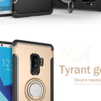 H&A 2018 New Luxury Shockproof Phone Case for Samsung Galaxy S9 S8 Plus with Holder Cover