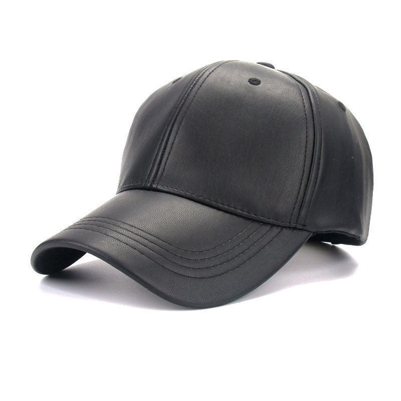 Unisex Men Women PU Leather  Baseball Cap Hat