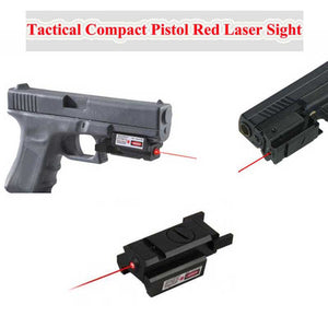 Tactical Compact Pistol 532nm Red Dot Laser Sight Scope