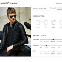 Varsanol Causal Leather Jackets for Men
