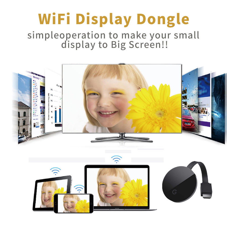 G5 Wireless Wi-Fi TV Stick Dongle Receiver