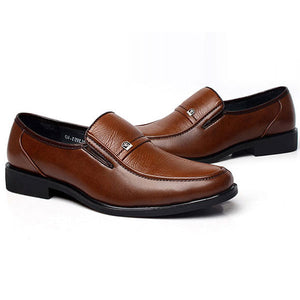 Men's Brown Oxford Shoes Leather Work Business Dress Loafers