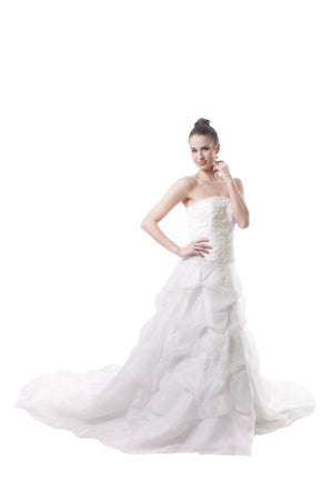 CUSTOM ORDER - Bridal Crumpled Gown