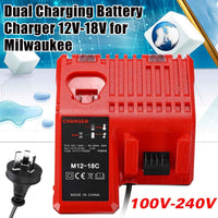 110v-240v Dual Charging Battery Multi Bay Charger for Milwaukee 12-18V