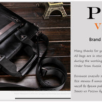 VICUNA POLO  Men Leather Briefcase