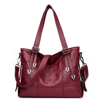 Women Vintage Color PU Handbag