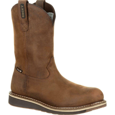 Rocky Cody Steel Toe Waterproof Brown Western Boot