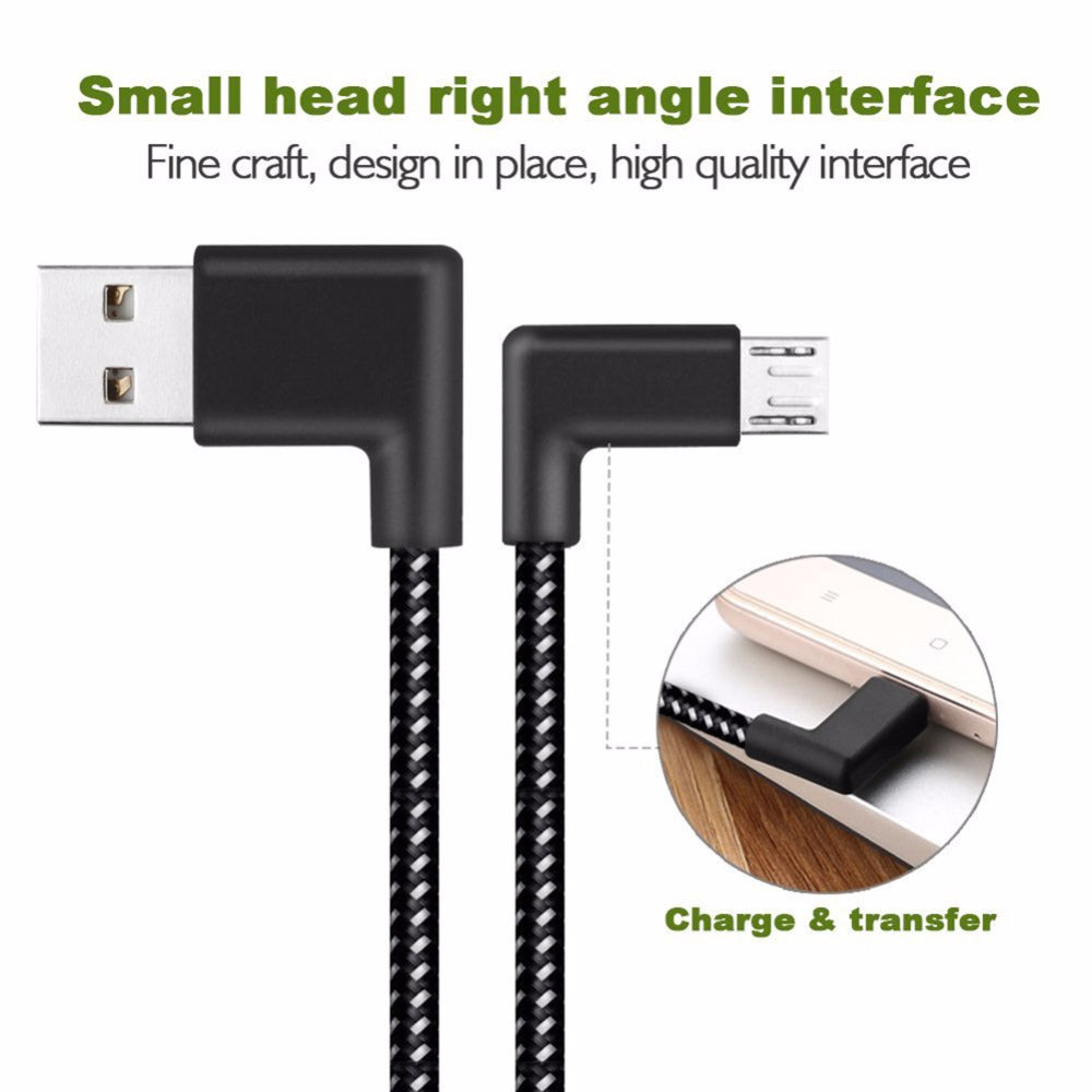 L Shaped Connector Micro USB Charging Cable