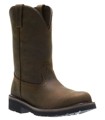 Men's Wolverine Ranchero Brown Steel Toe Work Boots
