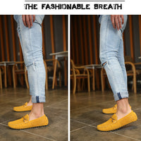 Summer genuine leather men casual shoes