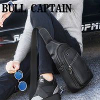 BULL CAPTAIN Fashion Genuine Leather Crossbody Bags
