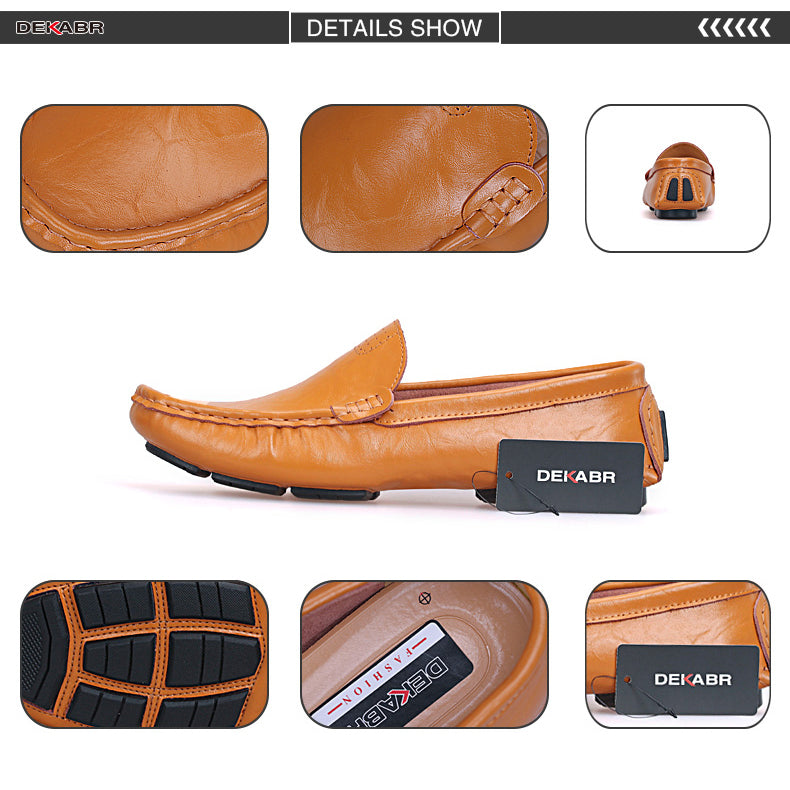 DEKABR High Quality Genuine Leather Men Shoes