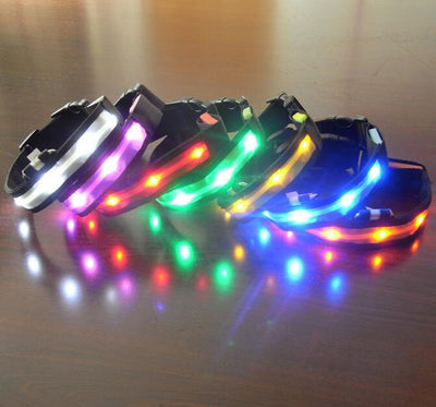 Nylon LED Pet Dog Collar Night Safety Anti-Lost Flashing Glow Collars
