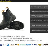 Safetoe Safety Shoes Leather Men's Work Boots