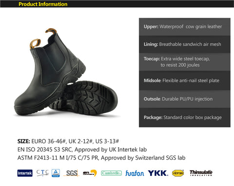 1ed32ac5b69c Safetoe Safety Shoes Leather Men s Work Boots – Shop Avenue Store ...