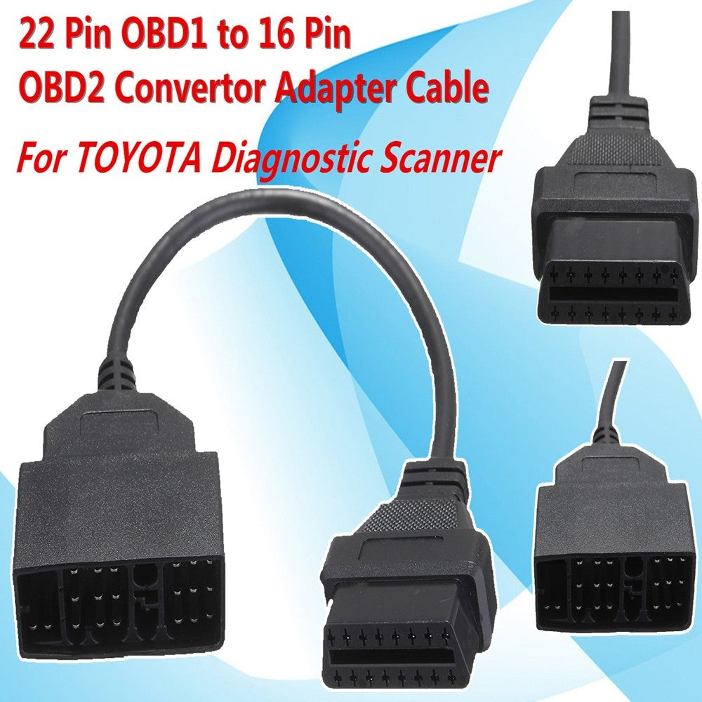 22 Pin OBD1 to 16 Pin OBD2 Convertor Adapter