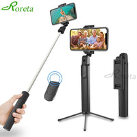 Roreta New 3 in1 Wireless Bluetooth Selfie Stick Tripod