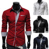 Men's Long Sleeve Formal Fitted Dress Shirts