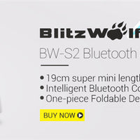 BlitzWolf Extendable Bluetooth Wire Wireless Selfie Sticks