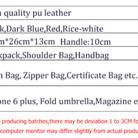 DIZHIGE PU Leather Backpacks
