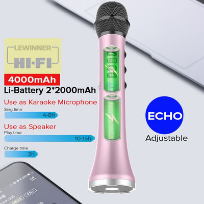 Wireless Karaoke Microphone Bluetooth Speaker 2-in-1