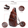 GSQ Hot Genuine Leather Men Crossbody Coffee Chest  Bags