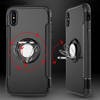 Ring Grip Stand Holder Case For iPhone X/7/8/6/6s/6+/6s+/5/5s/SE