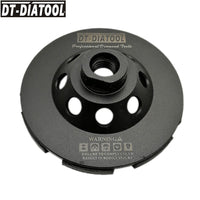 "4"" Diamond Double Row Cup Grinding Wheel for Concrete with M14 thread"