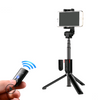 Mobile phone selfie stick Bluetooth tripod